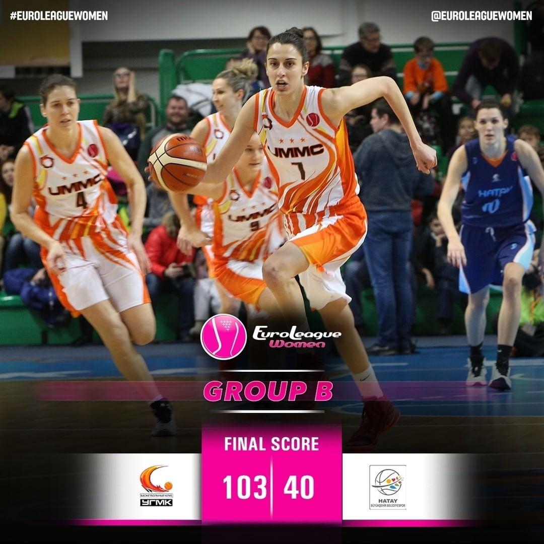 The reigning champs remain the powerhouse in #EuroLeagueWomen Group B: @bk_ugmk …