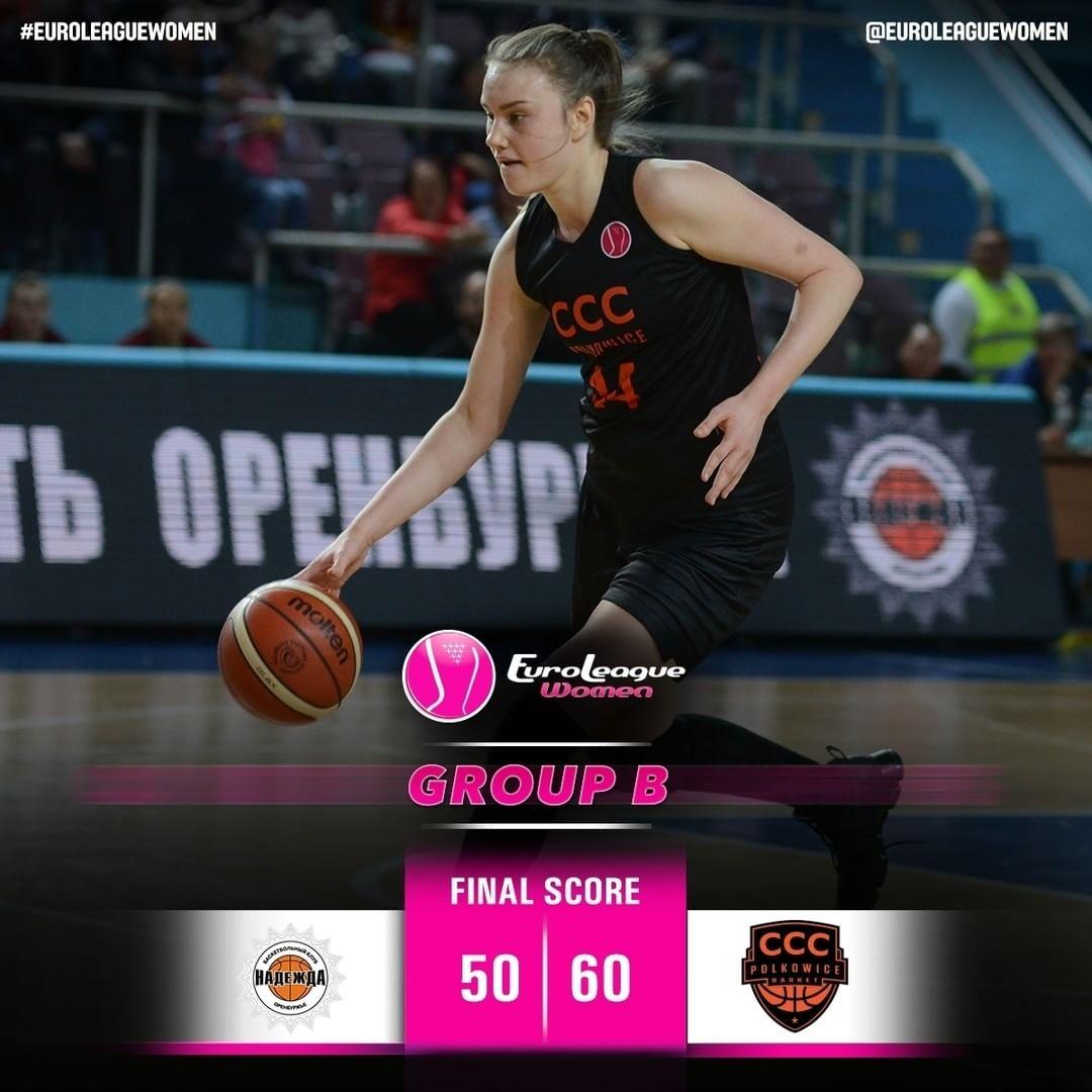 Polkowice secure their first win in #EuroLeagueWomen Group B: @pbc_nadezhda_oren…